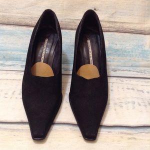 Donald J. Pliner Vintage Squared Pointed Toe Heels